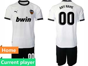 Mens 20-21 Soccer Valencia Cf Current Player White Home Short Sleeve Suit Jersey