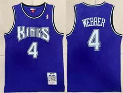 Mens Nba Sacramento Kings #4 Chris Webber Purple 1998-99 Mitchell&ness Hardwood Classics Jersey