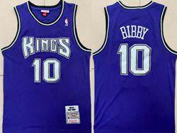 Mens Nba Sacramento Kings #10 Mike Bibby Purple 2001-02 Mitchell&ness Hardwood Classics Jersey