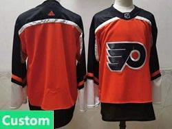 Mens Nhl Philadelphia Flyers Custom Made Orange 2021 Reverse Retro Alternate Adidas Jersey