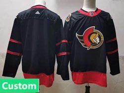 Mens Nhl Ottawa Senators Custom Made Black 2021 Reverse Retro Alternate Adidas Jersey