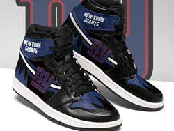 Mens And Women Nfl New York Giants High Football Shoes One Color