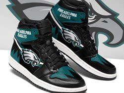 Mens And Women Nfl Philadelphia Eagles High Football Shoes One Color