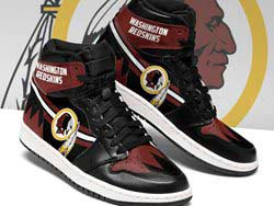 Mens And Women Nfl Washington Redskins High Football Shoes One Color
