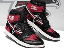 Mens And Women Nfl Atlanta Falcons High Football Shoes One Color