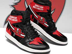 Mens And Women Nfl Tampa Bay Buccaneers High Football Shoes One Color