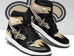 Mens And Women Nfl New Orleans Saints High Football Shoes One Color