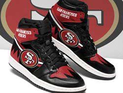 Mens And Women Nfl San Francisco 49ers High Football Shoes One Color