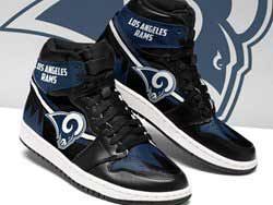 Mens And Women Nfl Los Angeles Rams High Football Shoes One Color