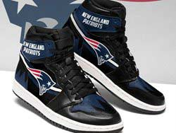 Mens And Women Nfl New England Patriots High Football Shoes One Color