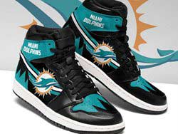 Mens And Women Nfl Miami Dolphins High Football Shoes One Color