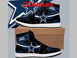 Mens And Women Nfl Dallas Cowboys High Football Shoes 2 Colors