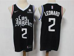 Mens Nba Los Angeles Clippers #2 Kawhi Leonard Black 2020-21 City Edition Nike Swingman Jersey