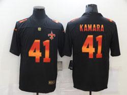 Mens Nfl New Orleans Saints #41 Alvin Kamara Black Colorful Vapor Untouchable Limited Nike Jersey