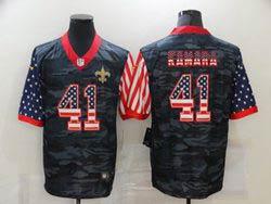 Mens Nfl New Orleans Saints #41 Alvin Kamara 2020 Camo Usa Flag Salute To Service Limited Nike Jersey