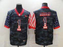 Mens Nfl Arizona Cardinals #1 Kyler Murray 2020 Camo Usa Flag Salute To Service Limited Nike Jersey