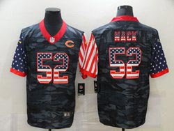 Mens Nfl Chicago Bears #52 Khalil Mack 2020 Camo Usa Flag Salute To Service Limited Nike Jersey