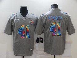Mens Nfl New Orleans Saints #41 Alvin Kamara Gray Rainbow Vapor Untouchable Limited Nike Jersey