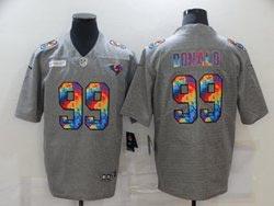 Mens Nfl Los Angeles Rams #99 Aaron Donald Gray Rainbow Vapor Untouchable Limited Nike Jersey