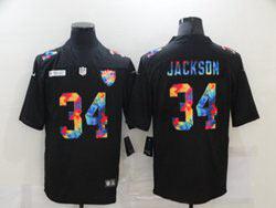 Mens Nfl Las Vegas Raiders #34 Bo Jackson Black Rainbow Vapor Untouchable Limited Nike Jersey
