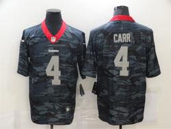 Mens Nfl Las Vegas Raiders #4 Derek Carr 2020 Camo Vapor Untouchable Limited Nike Jersey