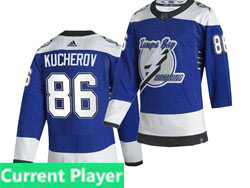 Mens Nhl Tampa Bay Lightning Current Player Blue 2021 Reverse Retro Alternate Adidas Jersey