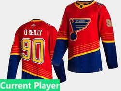 Mens Nhl St.louis Blues Current Player Red 2021 Reverse Retro Alternate Adidas Jersey