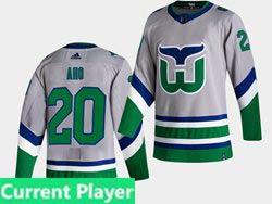 Mens Nhl Hartford Whalers Current Player Gray 2021 Reverse Retro Alternate Adidas Jersey