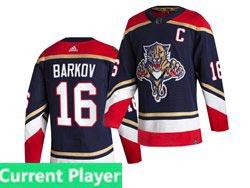 Mens Nhl Florida Panthers Current Player Blue 2021 Reverse Retro Alternate Adidas Jersey
