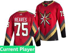 Mens Nhl Vegas Golden Knights Current Player Red 2021 Reverse Retro Alternate Adidas Jersey