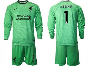 Mens Kids 20-21 Soccer Liverpool Club ( Custom Made ) 4 Colour Goalkeeper Long Sleeve Suit Jersey
