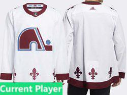 Mens Nhl Colorado Avalanche Current Player White 2021 Reverse Retro Alternate Adidas Jersey
