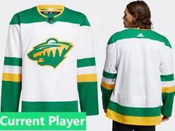 Mens Nhl Minnesota Wild Current Player White 2021 Reverse Retro Alternate Adidas Jersey