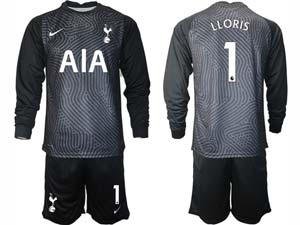Mens Kids 20-21 Soccer Tottenham Hotspur Club ( Custom Made ) 4 Color Goalkeeper Long Sleeve Suit Jersey