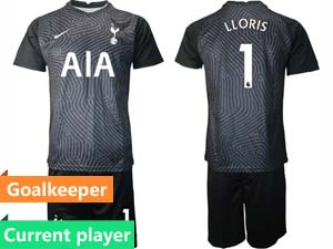 Mens Kids 20-21 Soccer Tottenham Hotspur Club Current Player 4 Color Goalkeeper Long Sleeve Suit Jersey