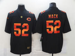 Mens Nfl Chicago Bears #52 Khalil Mack  Black Colorful Vapor Untouchable Limited Nike Jersey