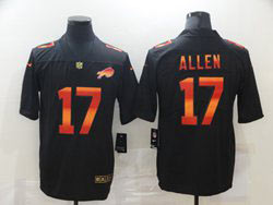Mens Nfl Buffalo Bills #17 Josh Allen Black Colorful Vapor Untouchable Limited Nike Jersey
