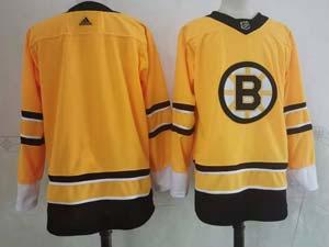 Mens Nhl Boston Bruins Blank Yellow 2021 Reverse Retro Alternate Adidas Jersey