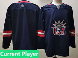 Mens Nhl New York Rangers Current Player Blue 2021 Reverse Retro Alternate Adidas Jersey