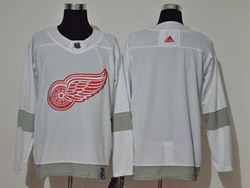 Mens Nhl Detroit Red Wings Blank White 2021 Reverse Retro Alternate Adidas Jersey