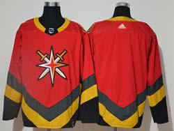 Mens Nhl Vegas Golden Knights Blank Red 2021 Reverse Retro Alternate Adidas Jersey