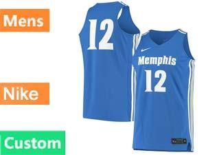 Mens Ncaa Nba Nike Memphis Tigers Custom Made Blue Jersey