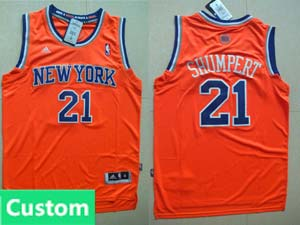 Nba New York Knicks Custom Made Orange Swingman Adidas Jersey