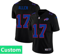 Mens Nfl Buffalo Bills Custom Made 2021 Black 3th Vapor Untouchable Limited Nike Jersey