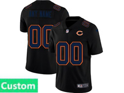 Mens Nfl Chicago Bears Custom Made 2021 Black 3th Vapor Untouchable Limited Nike Jersey