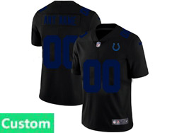 Mens Nfl Indianapolis Colts Custom Made 2021 Black 3th Vapor Untouchable Limited Nike Jersey
