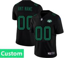 Mens Nfl New York Jets Custom Made 2021 Black 3th Vapor Untouchable Limited Nike Jersey