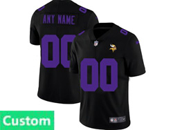 Mens Nfl Minnesota Vikings Custom Made 2021 Black 3th Vapor Untouchable Limited Nike Jersey