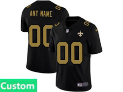 Mens Nfl New Orleans Saints Custom Made 2021 Black 3th Vapor Untouchable Limited Nike Jersey