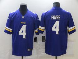 Mens Nfl Minnesota Vikings #4 Brett Favre Purple Vapor Untouchable Limited Nike Jersey